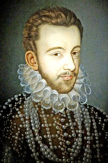 Henry de Valois, later Henry III of France, was the first elected Polish king in 1573 France-001615 - King Henri III (15291221709) (2).jpg
