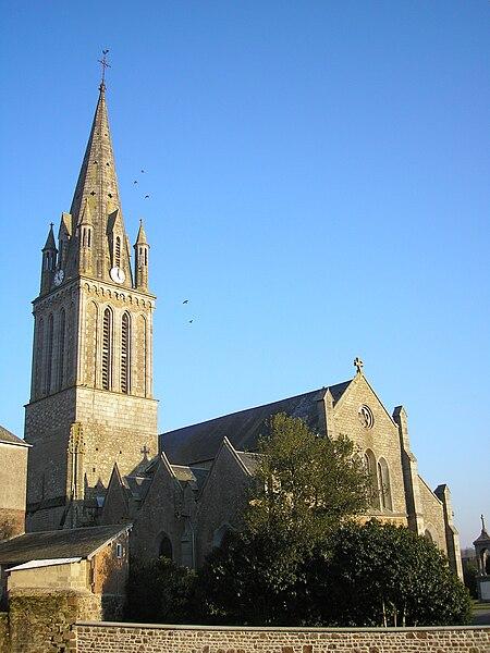 Tessy-sur-Vire (Normandie, France). L'église Saint-Pierre.