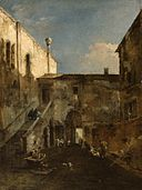 Francesco Guardi - A Venetian Courtyard - Walters 37607.jpg