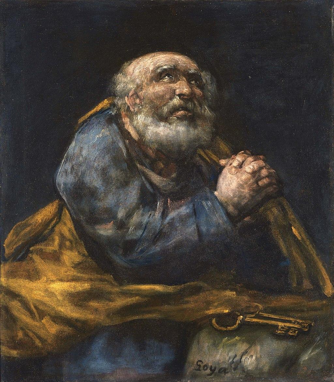 Francisco José de Goya - The Repentant St. Peter