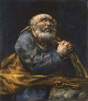 "Contrition - ""Saint Peter Repentant"" 1823-25, Goya"