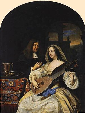 Franciscus Sylvius - Franciscus Sylvius and his wife by Frans van Mieris, Sr.