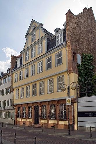 Goethe House - Goethe's birthplace at 23 Großer Hirschgraben, Frankfurt am Main