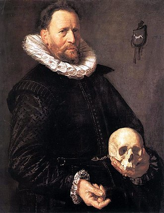 Portrait of a Woman Standing - Image: Frans Hals Portrait of a Man Holding a Skull