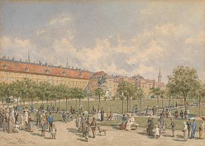 Franz Alt (painter) - Heldenplatz 1882, Vienna (watercolor)