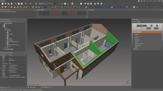 FreeCAD - Interior of 3D house