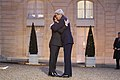 French President Hollande Embraces Secretary Kerry Upon His Arrival to the Élysée Palace in Paris (16105875997).jpg