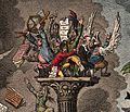 French savants huddled together at the top of a column, Wellcome V0011983.jpg
