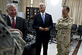 From left, U.S. Secretary of Defense Robert M. Gates, Vice President Joe Biden and Chairman of the Joint Chiefs of Staff Navy Adm. Mike Mullen talk before a U.S. Forces-Iraq change of command ceremony 100901-N-TT977-115.jpg