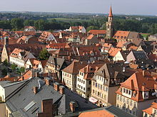 Fürth old town seen from the townhall tower