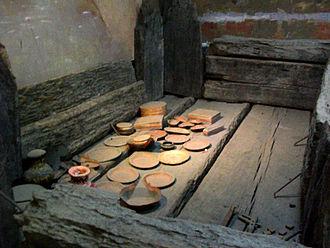 Fuyang - Tomb of Xiahou Zao (rear). The site of Xiahou Zao's tomb became known as Shuanggudui