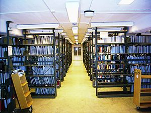 Gothenburg University Library - Shelves in the main library