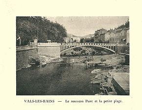 G.-L. Arlaud-recueil Vals Saint Jean-Vals, nouveau pont & petite plage.jpg
