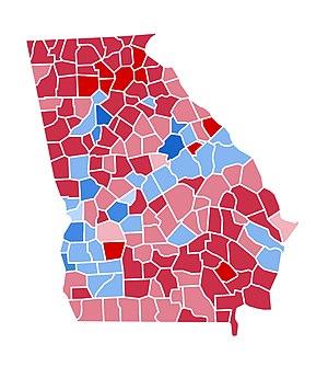 United States presidential election in Georgia, 2000 - Image: GA2000