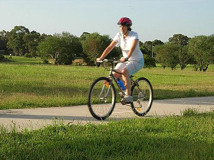 Bicycle riding is one of the most popular forms of physical recreation in Australia GKRP bike.jpg