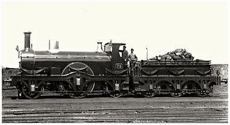 Daniel Gooch standard gauge locomotives - GWR 69 class no. 72, as running 1887–95