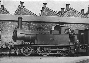South Devon Railway 2-4-0 locomotives - GWR 1300 was completed as a side tank rather than a saddle tank locomotive