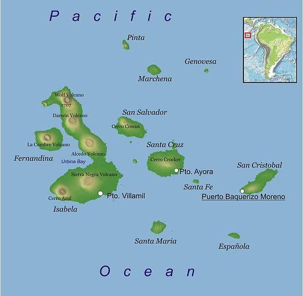 North Seymour Island Map