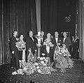 Galapremière van de zaak MP in het Tuschinskitheater te Amsterdam, v.l.n.r. Albe, Bestanddeelnr 911-6345.jpg