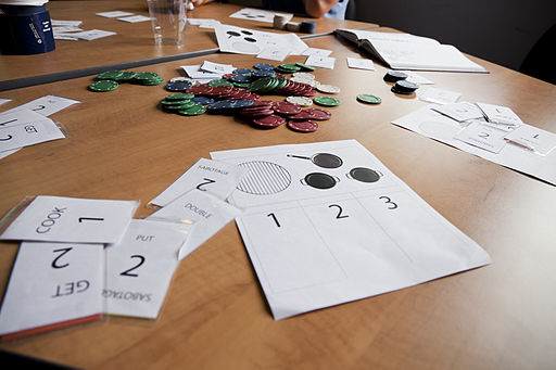 Tabletop gamification example