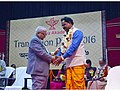 Ganesh Thakur Hansda receiving Translation award 2016.jpg