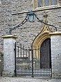 Gate and door, St Mary's Church, Stalbridge - geograph.org.uk - 703685.jpg