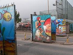 Gates in the 'Peace Line'