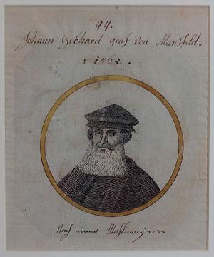 Gebhard I von Mansfeld-Vorderort - Image: Gebhard von Mansfeld von Joseph Michael Laporterie