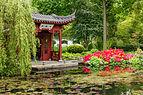 Gebouw voorstellende een boot in de Chinese tuin Het Verborgen Rijk van Ming in de Hortus Haren 03.jpg