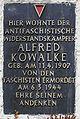 Gedenktafel Boxhagener Str 51 (Friedh) Alfred Kowalke.jpg
