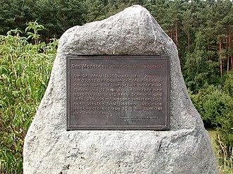 Rhine–Main–Danube Canal - Memorial to the dam break in the Main-Danube Canal at Katzwang