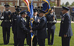 Gen. Duncan J. McNabb , Air Force vice chief of staff, hands the Air Force District of Washington guidon to Maj. Gen. Ralph Jodice, Air Force District of Washington commander, signifying the change of command 080806-F-2207D-069.jpg