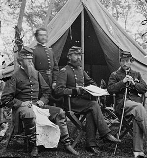George Sykes - General Sykes and his staff