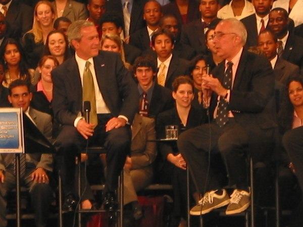George W. Bush and Ben Stein at Montgomery Blair High School