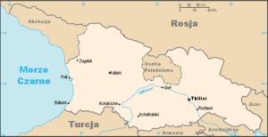 Environmental issues in Georgia - Georgia country map