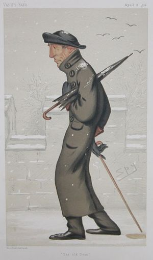 "Gerald Wellesley - ""The old Dean"", Wellesley as caricatured by Spy (Leslie Ward) in Vanity Fair, April 1876"