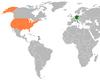 Lage von Deutschland und den Vereinigten Staaten