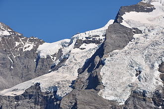 Jungfraujoch - The northwest side of the saddle