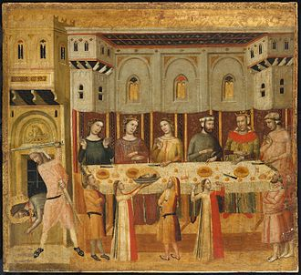 Giovanni Baronzio - The Feast of Herod and the Beheading of the Baptist