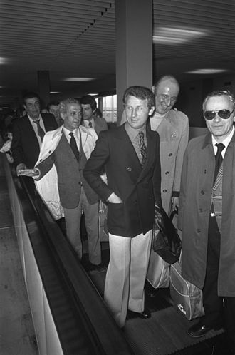 Giovanni Trapattoni - Trapattoni as Milan manager at Schiphol airport in Amsterdam before the 1974 European Cup Winners' Cup Final in Rotterdam