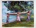 Girls Carrying a Canoe, Vaiala in Samoa MET APS2316.jpg
