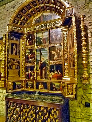 Girona Cathedral - St. Helen Altarpiece, Cathedral Museum.