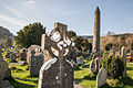 Glendalough cemitery and round tower.jpg
