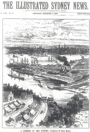 Illustrated Sydney News - A Glimpse of the Future, 1893