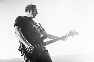 G. C. Green (bass) performing with Godflesh