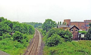 Goldsborough railway station - The site of the station in 2000