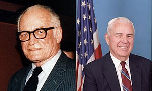 Goldwater–Nichols Act - Sen. Barry Goldwater (R—AZ) and Rep. William Flynt Nichols (D—AL-4), the co-sponsors of the Goldwater–Nichols Act of 1986.
