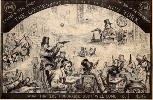 Government of the City of New York - 1867 Cartoon