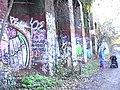Graffiti gallery on Crouch End Hill Bridge - geograph.org.uk - 1621447.jpg