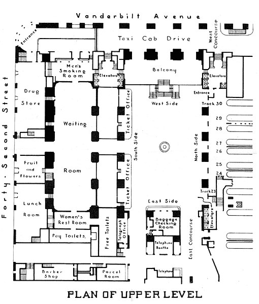 Grand Central Terminal Upper Level Floor Plan